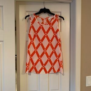 NWOT Peach Love Cream Printed Tank Top